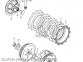 Suzuki RM80 1986 (G) USA (E03) parts lists and schematics