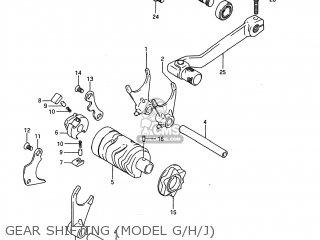 Suzuki RM80 1986 (G) USA (E03) parts lists and schematics