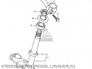 Suzuki Rm80 1986 (g) Usa (e03) parts list partsmanual