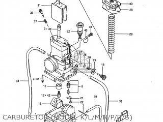 Suzuki Rm80 1988 (j) Usa (e03) parts list partsmanual