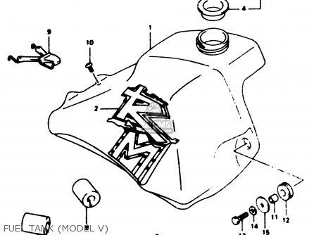 Suzuki Rm80 1996 (t) parts list partsmanual partsfiche