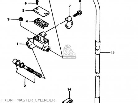 Suzuki Rm80 1997 (v) parts list partsmanual partsfiche