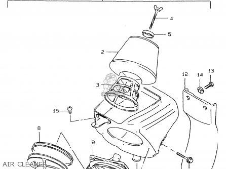 Suzuki Rm80 1998 (xw) parts list partsmanual partsfiche