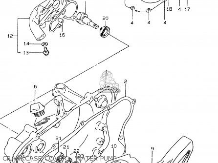 Suzuki Rm80 1998 (xw) parts list partsmanual partsfiche