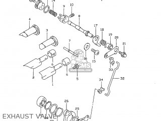 Suzuki Rm80 1999 (x) Usa (e03) parts list partsmanual