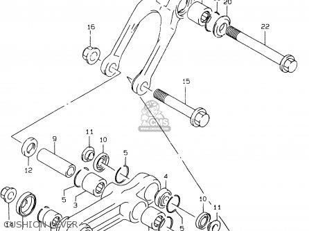 Suzuki Rm80 1999 (xx) parts list partsmanual partsfiche