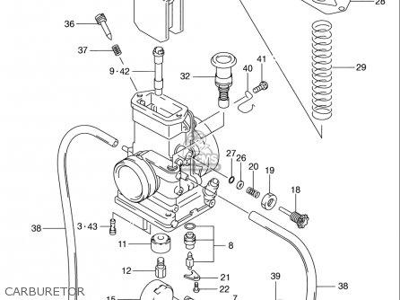 Suzuki Rm80 2000-2001 (usa) parts list partsmanual partsfiche