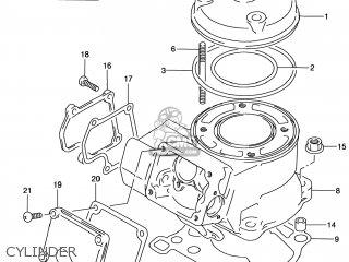 Suzuki RM80 2001 (K1) USA (E03) parts lists and schematics