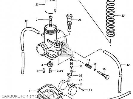 Suzuki Rm80h 1983 (h) parts list partsmanual partsfiche
