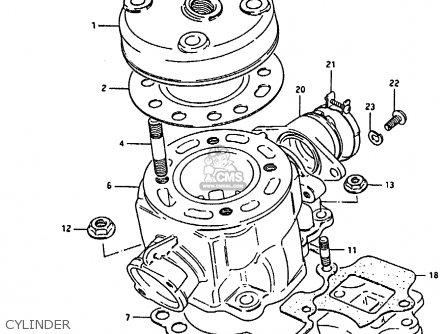 Suzuki Rm80h 1985 (f) parts list partsmanual partsfiche