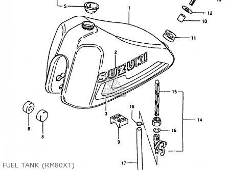 Suzuki Rm80x 1981 (x) parts list partsmanual partsfiche