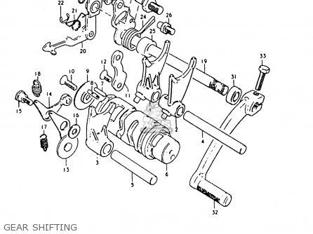 Suzuki RM80X 1981 (X) parts lists and schematics