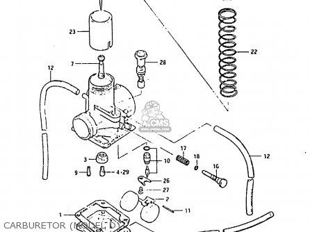 Suzuki RM80X 1983 (D) parts lists and schematics