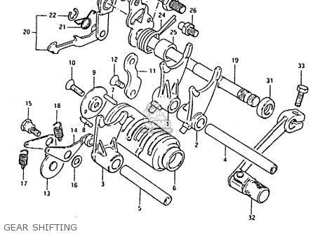 Suzuki Rm80x 1984 (e) parts list partsmanual partsfiche