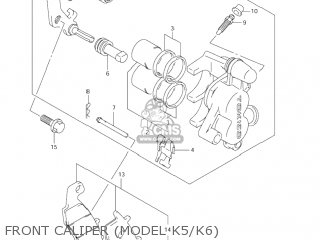 Suzuki RM85 2004 (K4) USA (E03) parts lists and schematics