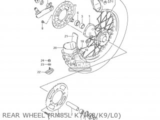Suzuki Rm85 2007 (k7) Usa (e03) parts list partsmanual