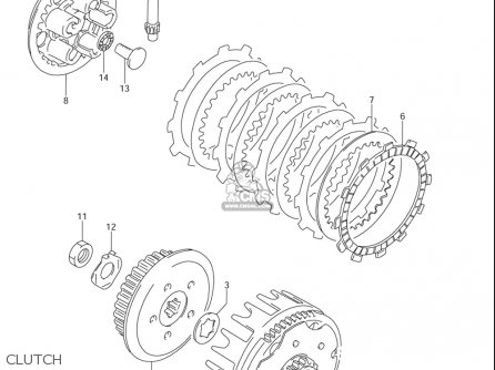 Suzuki Rm85 ,l 2002-2005 (usa) parts list partsmanual