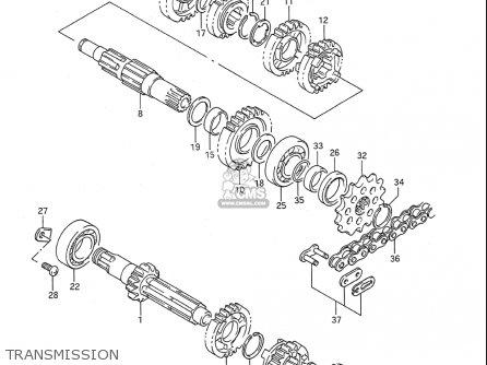 Suzuki Rmx250 1989-1996 (usa) parts list partsmanual