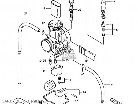 Suzuki Rmx250 1989 (k) parts list partsmanual partsfiche