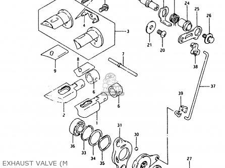 Suzuki Rmx250 1989 (k) parts list partsmanual partsfiche