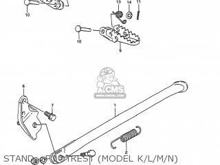 Suzuki RMX250 1989 (K) USA (E03) parts lists and schematics