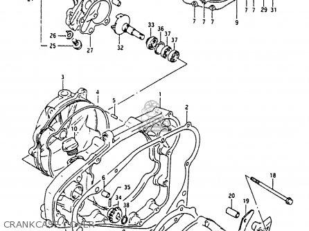 Suzuki Rmx250 1990 (l) parts list partsmanual partsfiche