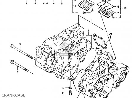 Suzuki Rmx250 1990 (l) parts list partsmanual partsfiche