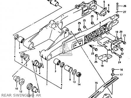 Suzuki Rmx250 1990 (l) General (e01) parts list