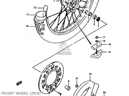 Suzuki Rmx250 1991 (m) General (e01) parts list