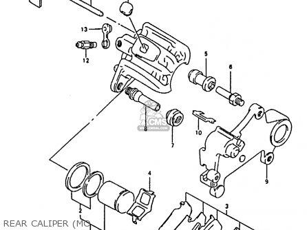 Suzuki RMX250 1991 (M) GENERAL (E01) parts lists and