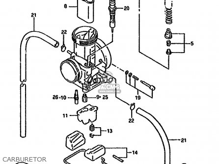 Suzuki Rmx250 1993 (rp) parts list partsmanual partsfiche