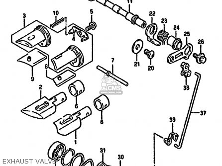 Suzuki Rmx250 1994 (rr) parts list partsmanual partsfiche