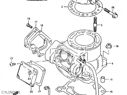 Suzuki Rmx250 1995 (s) parts list partsmanual partsfiche