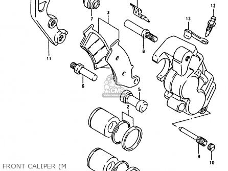 Suzuki Rmx250 1995 (s) General (e01) parts list