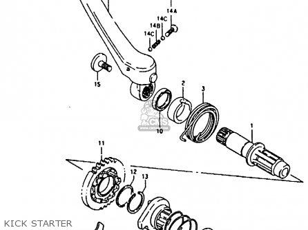 Suzuki Rmx250 1995 (s) parts list partsmanual partsfiche