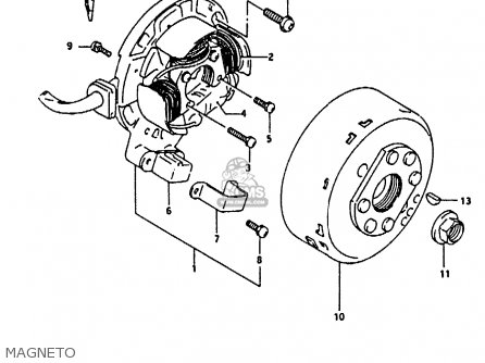 Suzuki Rmx250 1996 (t) Genereal (e01) parts list