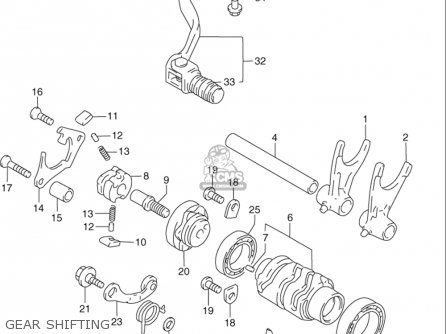 Suzuki Rmx250 1997-1998 (usa) parts list partsmanual