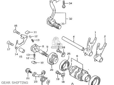 Suzuki Rmx250 1997 (v) General (e01) parts list