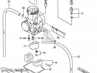 Suzuki Rmx250 1997 (v) Usa (e03) parts list partsmanual