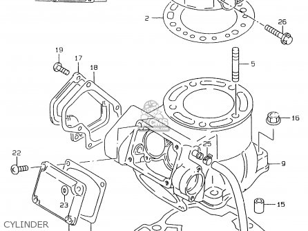 Suzuki Rmx250 1998 (w) parts list partsmanual partsfiche