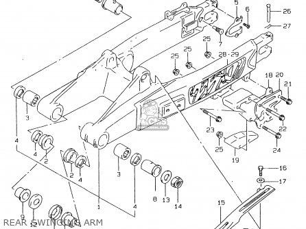 Suzuki Rmx250 1998 (w) General (e01) parts list