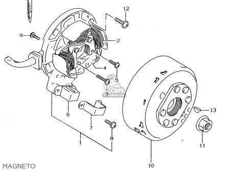 Suzuki Rmx250 1998 (w) parts list partsmanual partsfiche