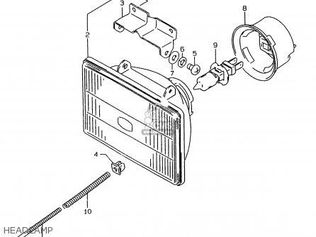 Suzuki Rmx250 1999 (x) parts list partsmanual partsfiche