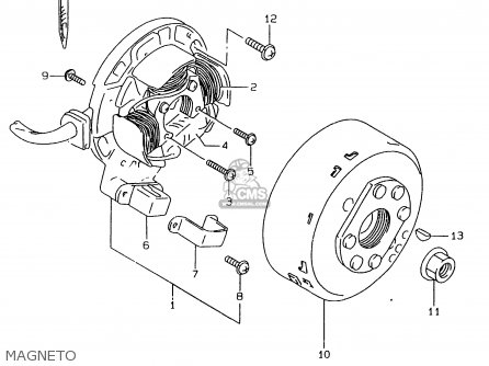Suzuki Rmx250 1999 (x) parts list partsmanual partsfiche
