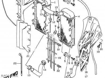 Suzuki RMX250 1999 (X) parts lists and schematics