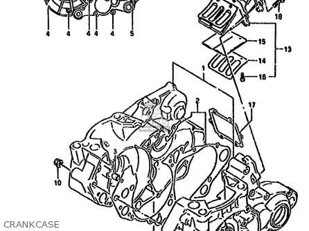 Suzuki Rmx250r 1994 (r) General (e01) parts list