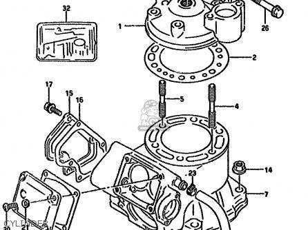 Suzuki RMX250R 1994 (R) GENERAL (E01) parts lists and