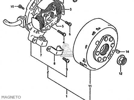 Suzuki Rmx250r 1994 (r) General (e01) parts list