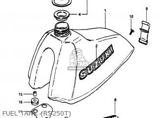Suzuki RS250 1980 (T) USA (E03) parts lists and schematics