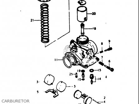 Suzuki Rv125 1973-1977 (usa) parts list partsmanual partsfiche
